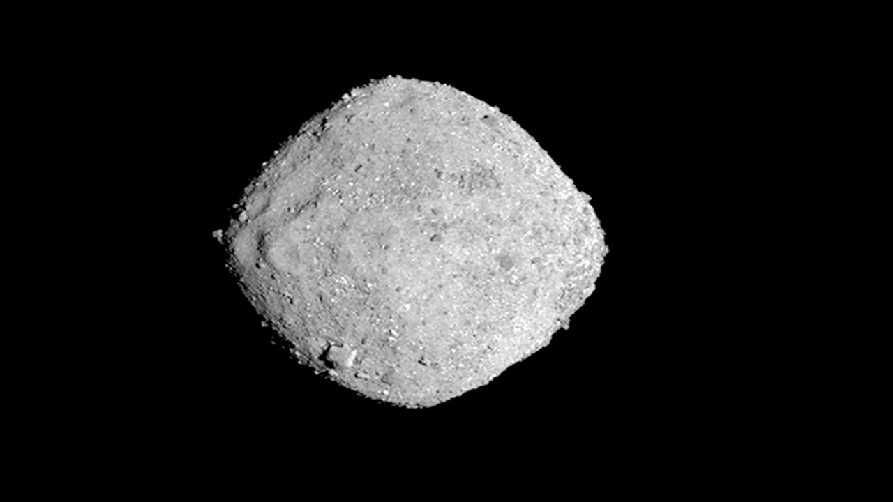 This Nov. 16, 2018, image provided by NASA shows the asteroid Bennu.