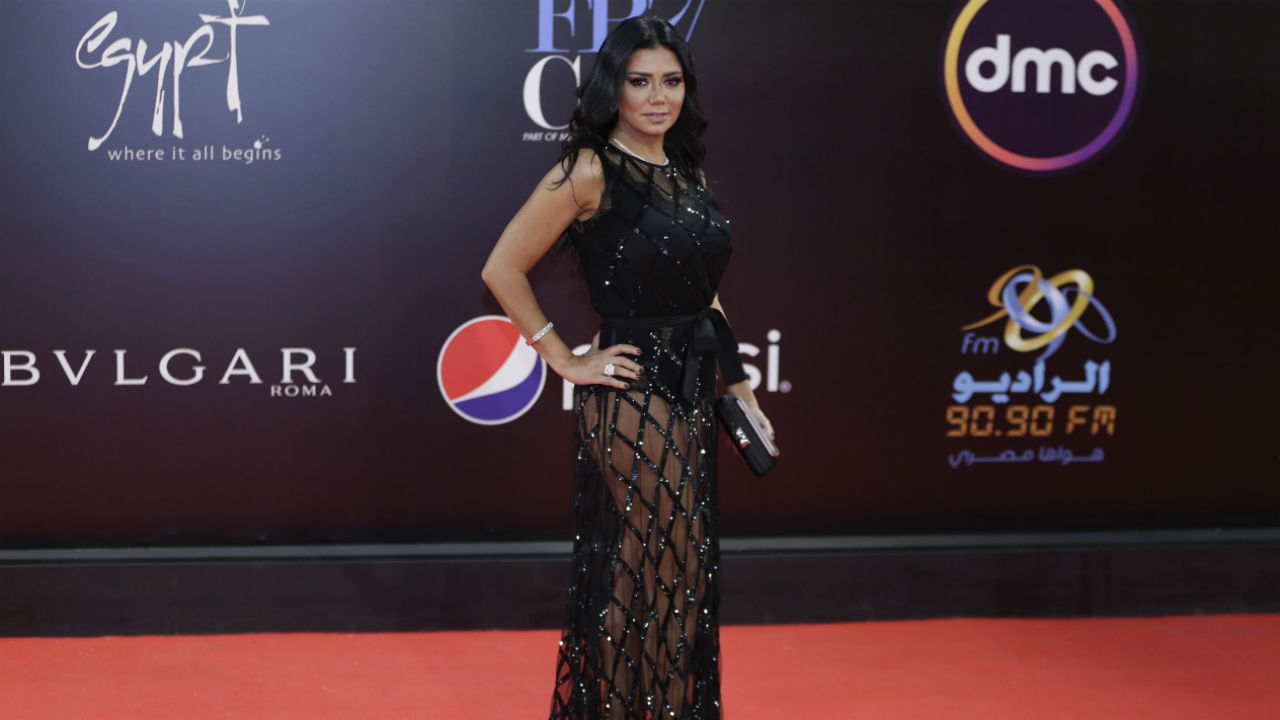 Egyptian actress Rania Youssef questioned over revealing dress at gala