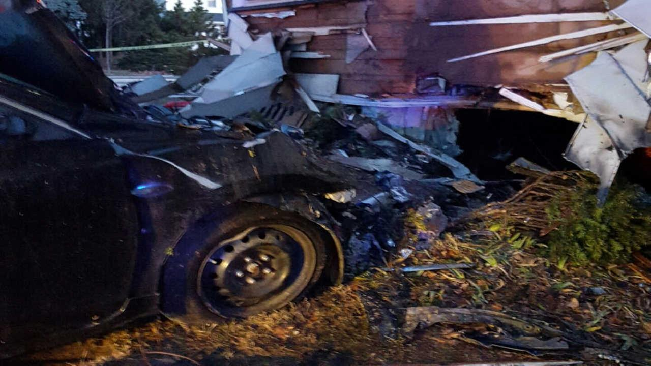 Driver loses control, crashes into Paramus home after wild police chase