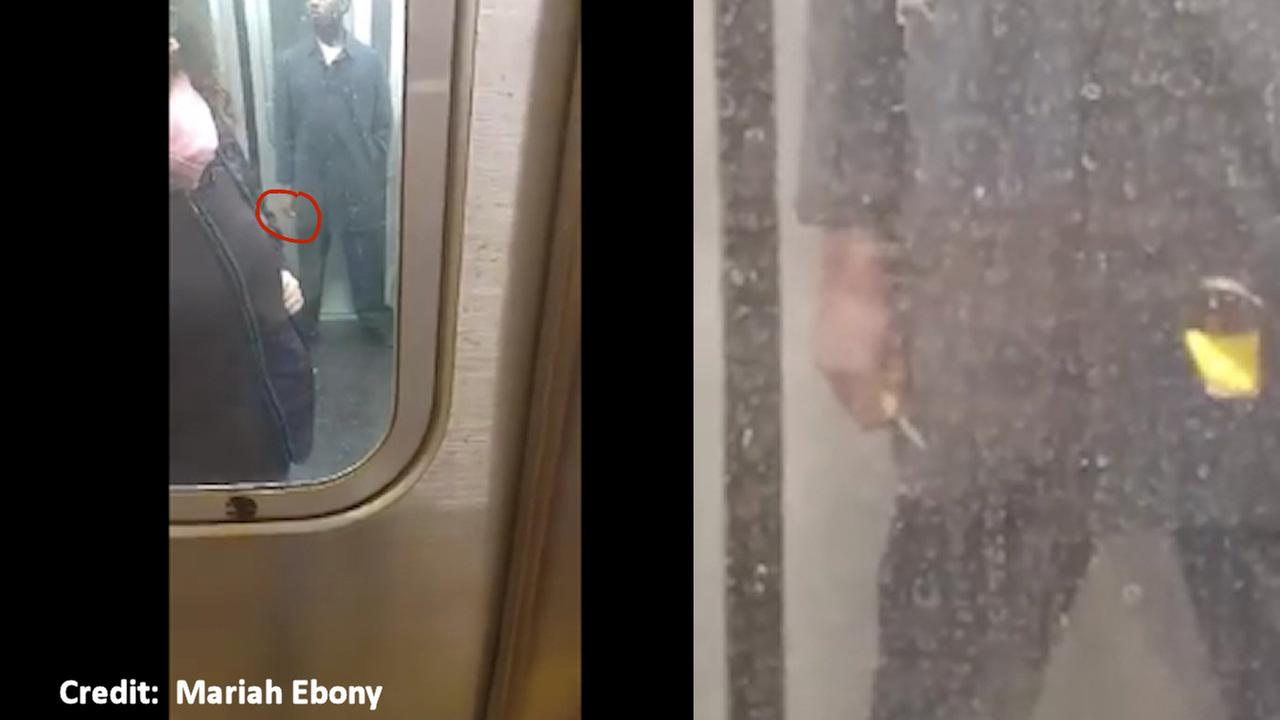 Straphanger captures video of man holding small knife while riding Q train