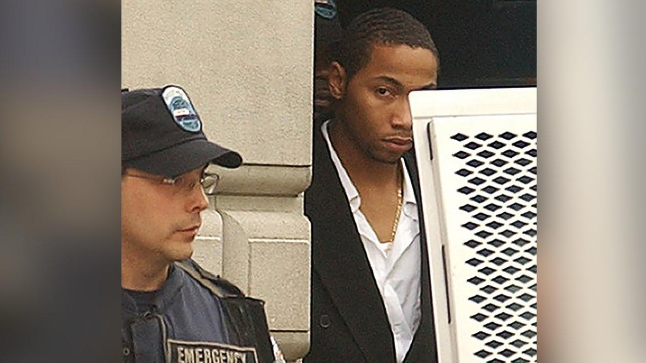 In this July 30, 2003 file photo, Ronell Wilson is escorted past a corrections officer after appearing in court in the Staten Island borough of New York.