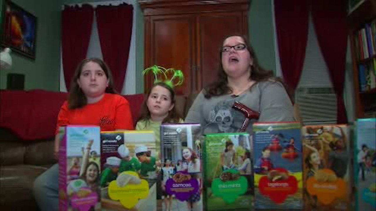 Sisters sell hundreds of Girl Scout cookies to police in NJ after woman curses them out