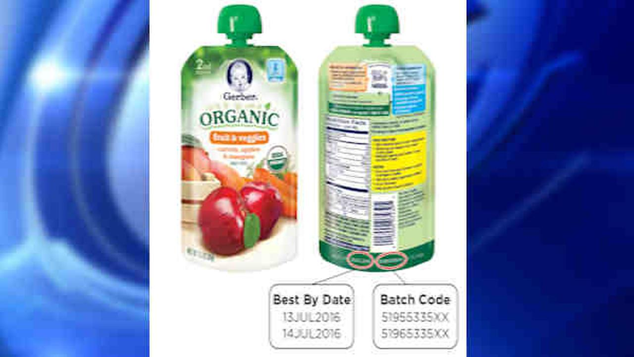 Gerber recalls organic baby food pouches