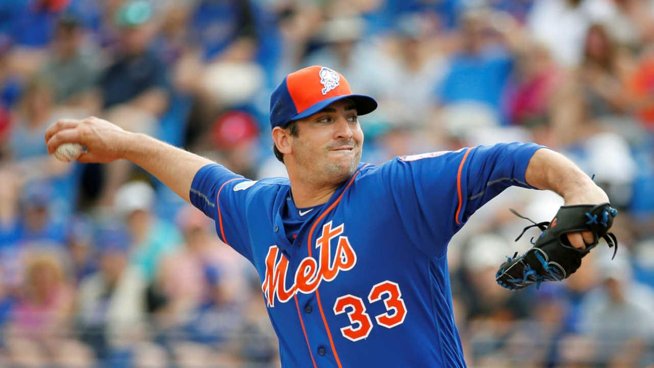 New York Mets' Matt Harvey on track for opener after passing bladder blood clot
