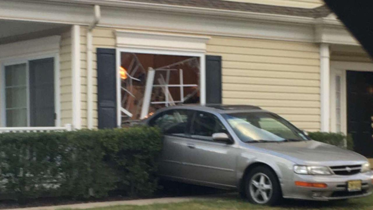 Dinner interrupted: Car plows into hoouse in NJ after driver says gas pedal got stuck