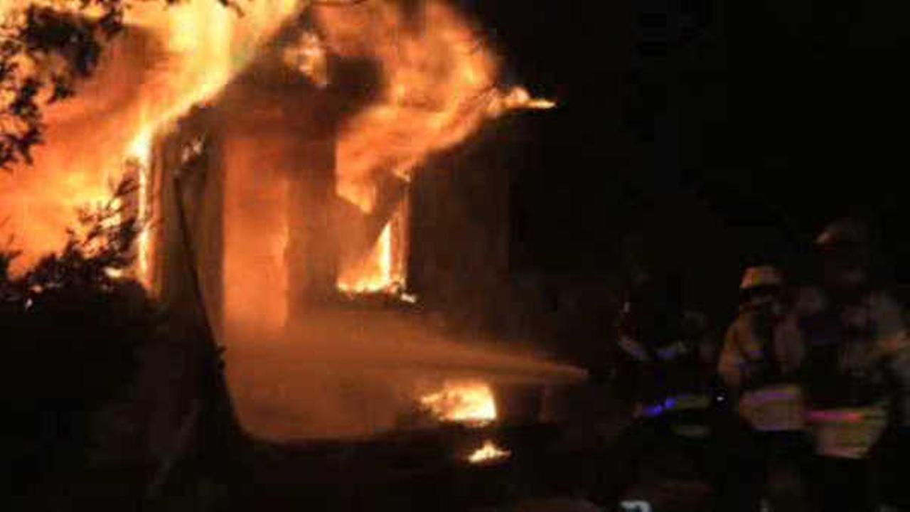 Fire tears through home in North Amityville, Long Island