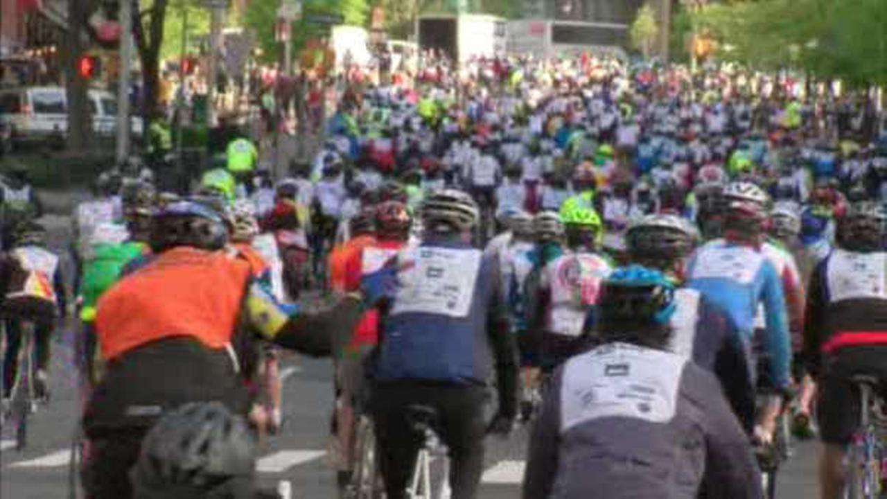 Street closures for Sunday's Five Boro Bike Tour