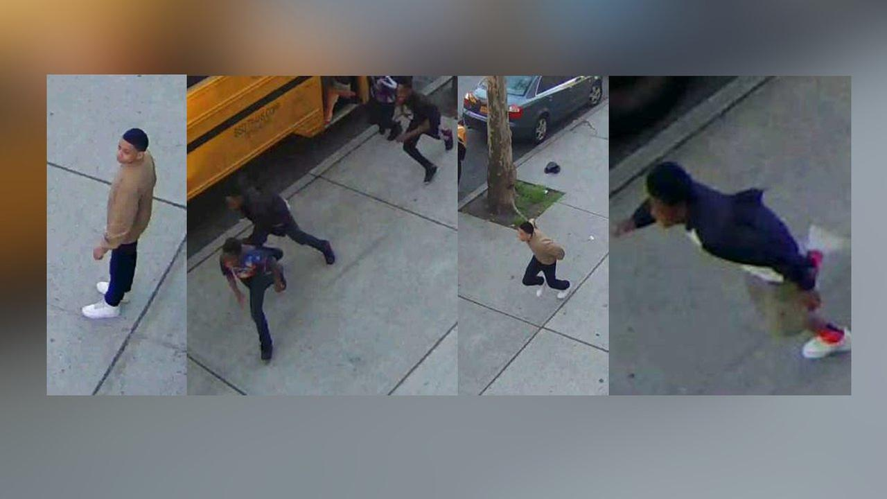 The NYPD released surveillance photos of other boys suspected of setting fire to a school bus.