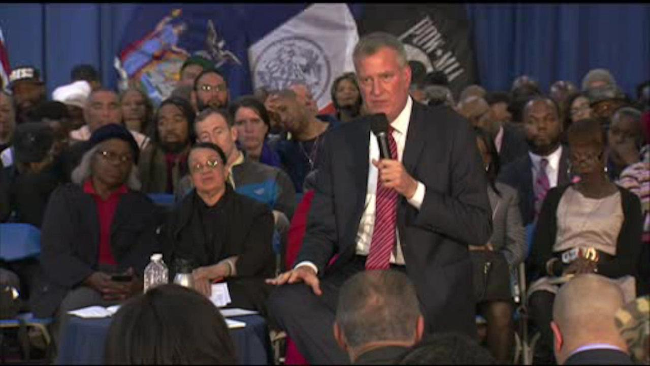 Mayor de Blasio discusses public safety in Bronx town hall meeting