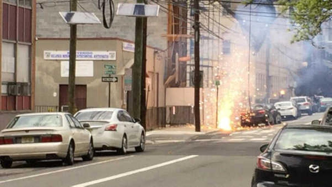 Strong winds knock down power lines, power outage in Hoboken