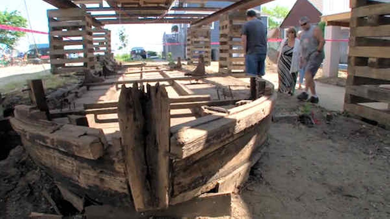 44-foot boat from 19th century found under New Jersey home