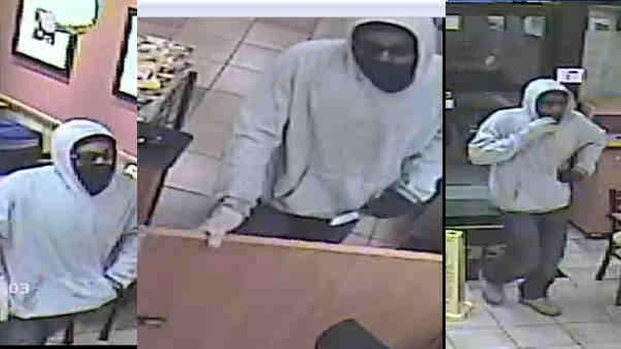Surveillance pictures from Wednesday nights robbery