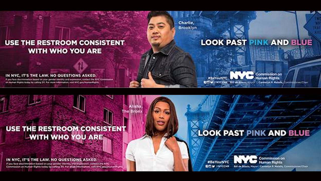 New York City launches transgender bathroom campaign