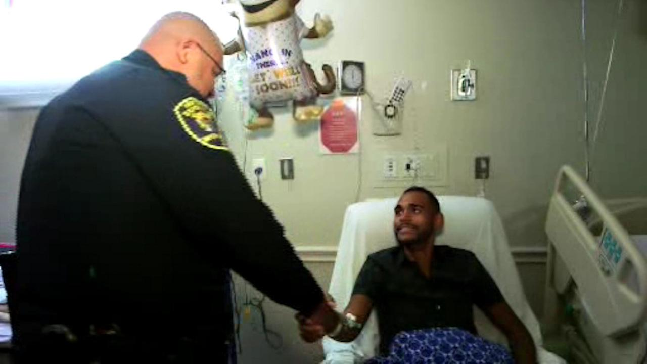 Orlando shooting survivor reunited with officer who rescued him from club