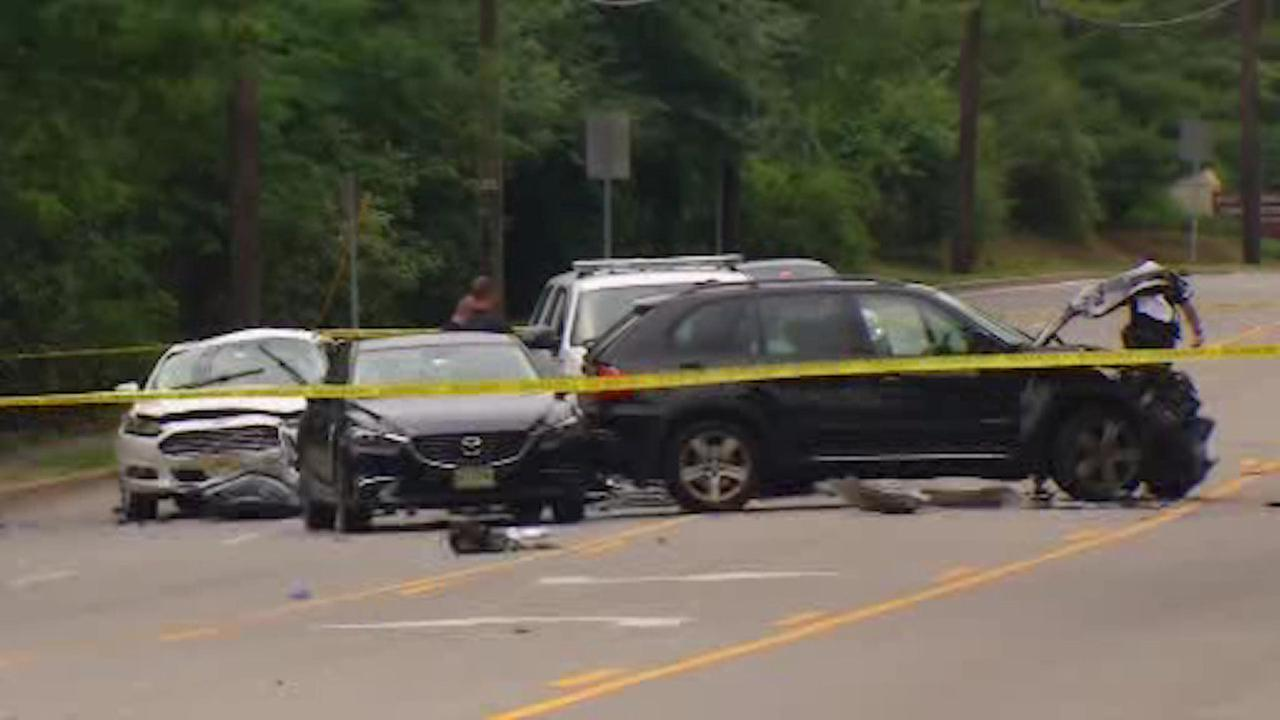 1 woman killed, 2 others hurt in 5-vehicle crash in West Caldwell
