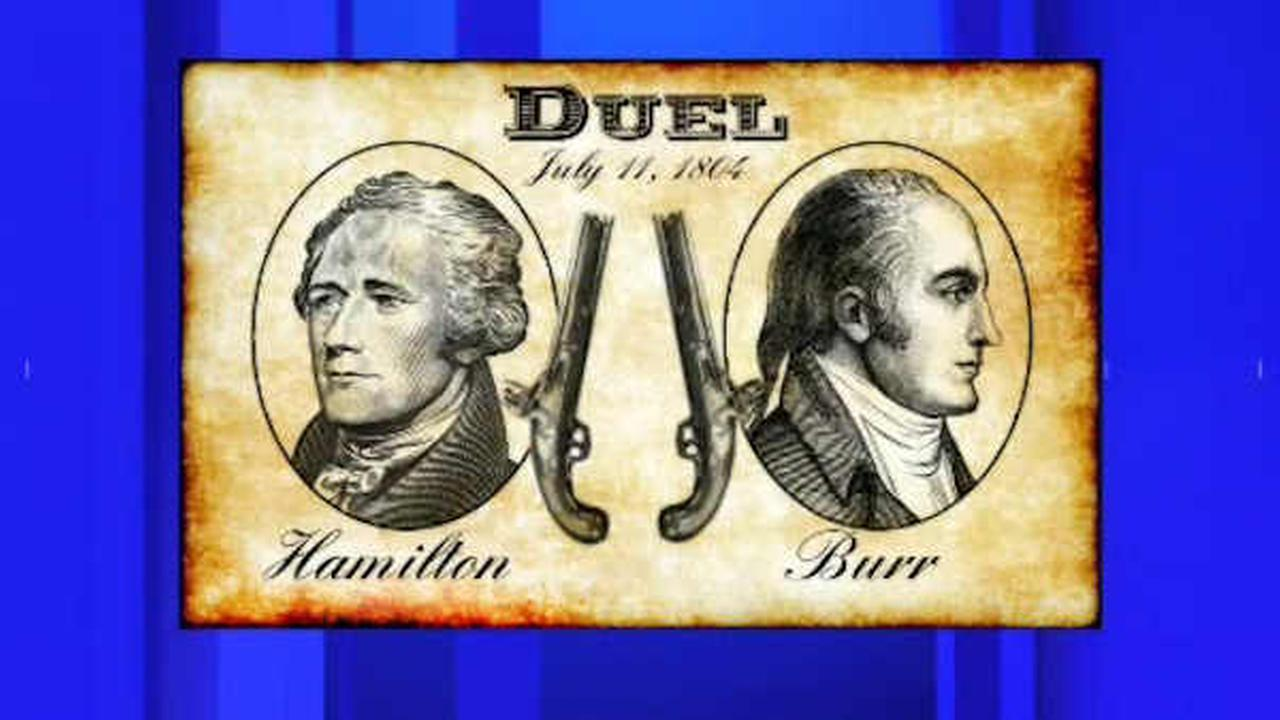 Events to mark 212th anniversary of Alexander Hamilton-Aaron Burr duel in Weehawken