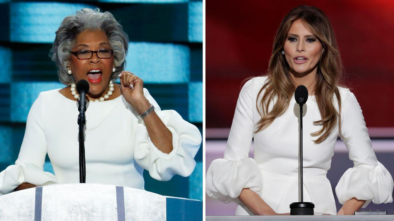 Who wore it better? Rep. Beatty's dress was similar to Melania Trump's white RNC dress