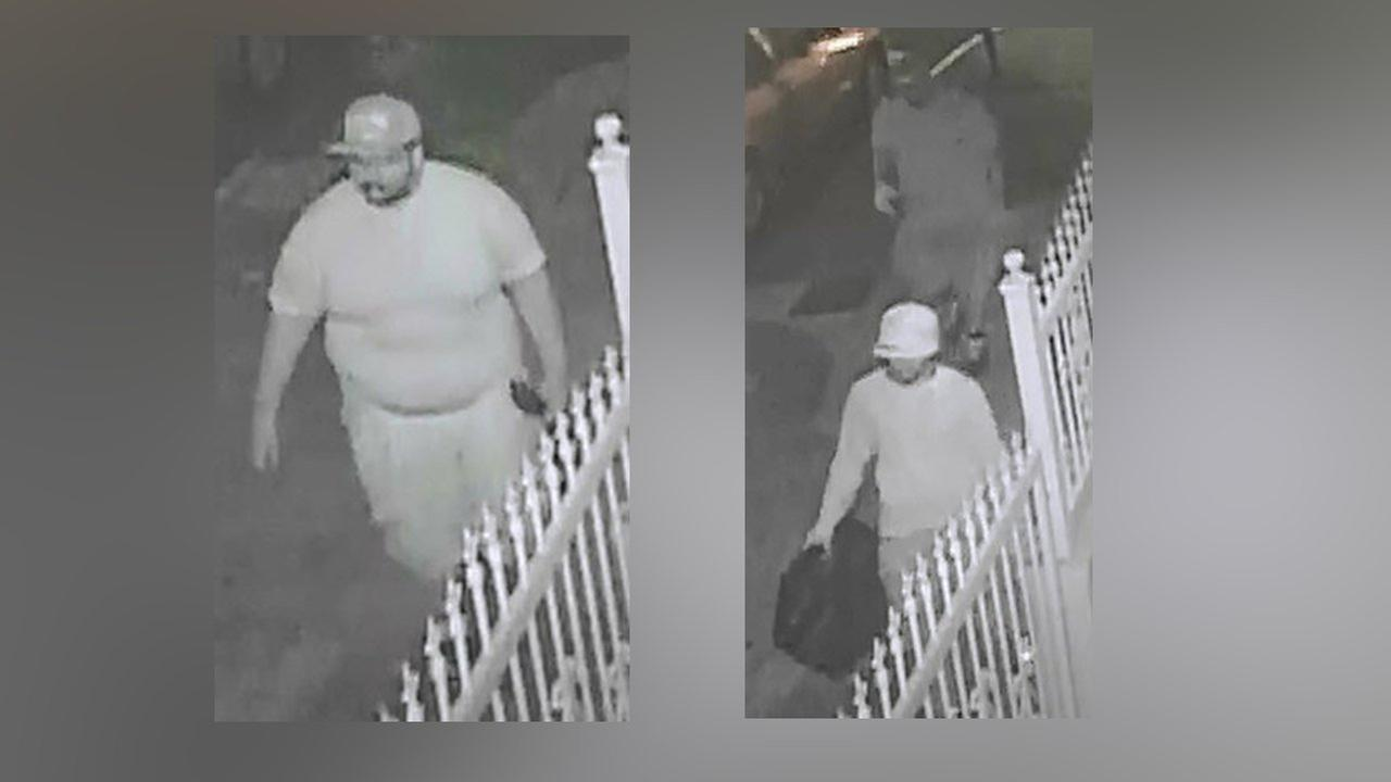 The NYPD released surveillance images of the three suspects.