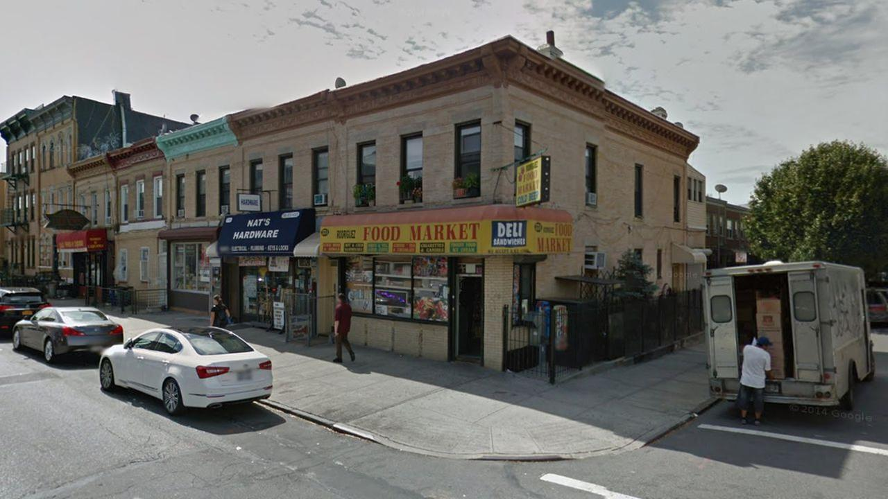 The shooting happened near the intersection of Covert Street and Wilson Avenue in the Bushwick section of Brooklyn.