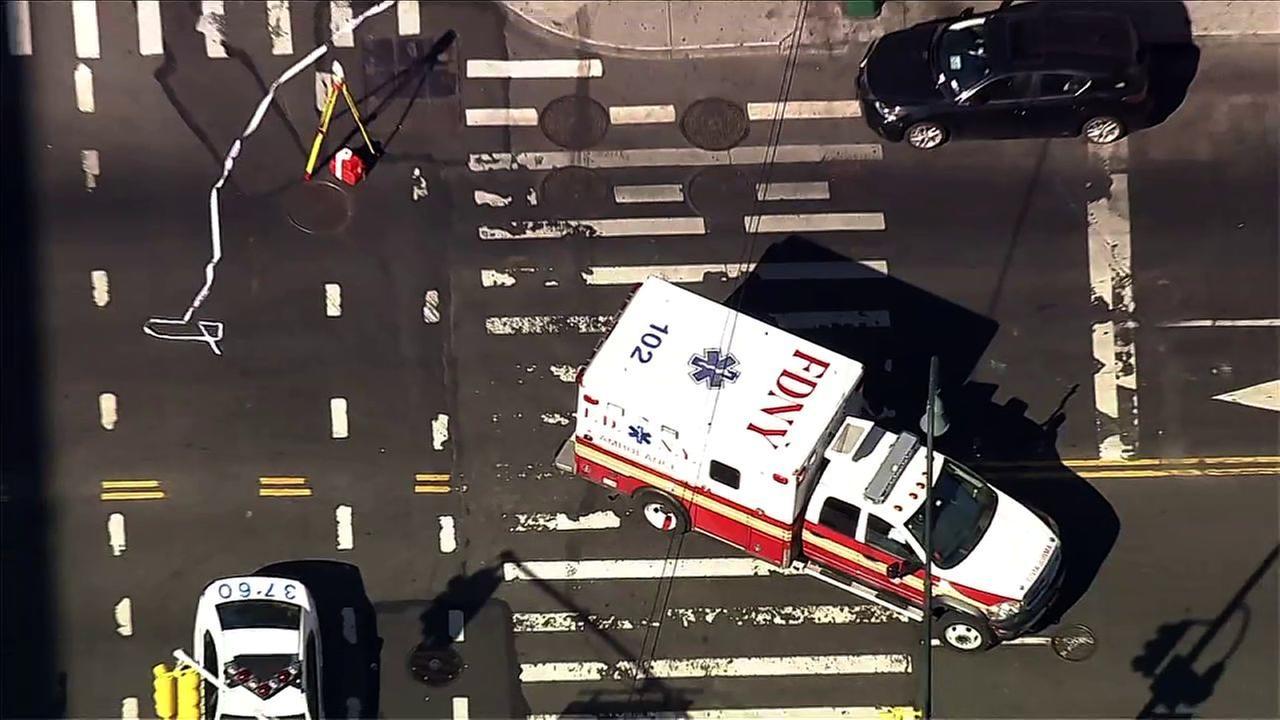 Man hit by ambulance in East Village dies