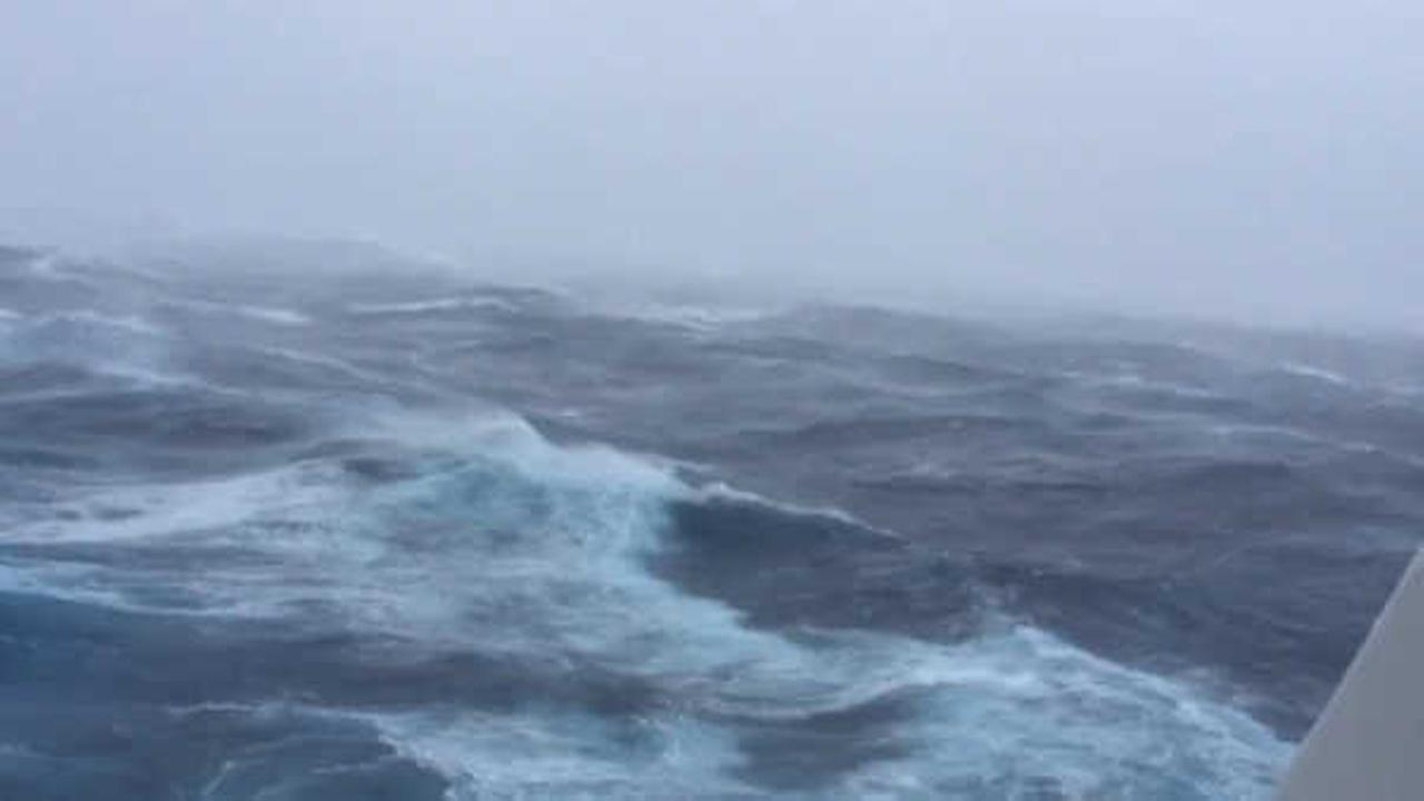 WATCH: Passengers on cruise ship document rough seas, massive waves