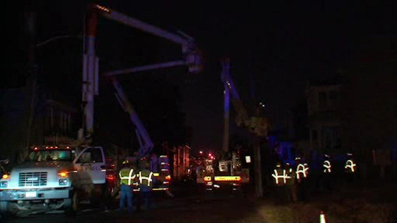 Worker drives crane into power lines, causes outage in Irvington, NJ