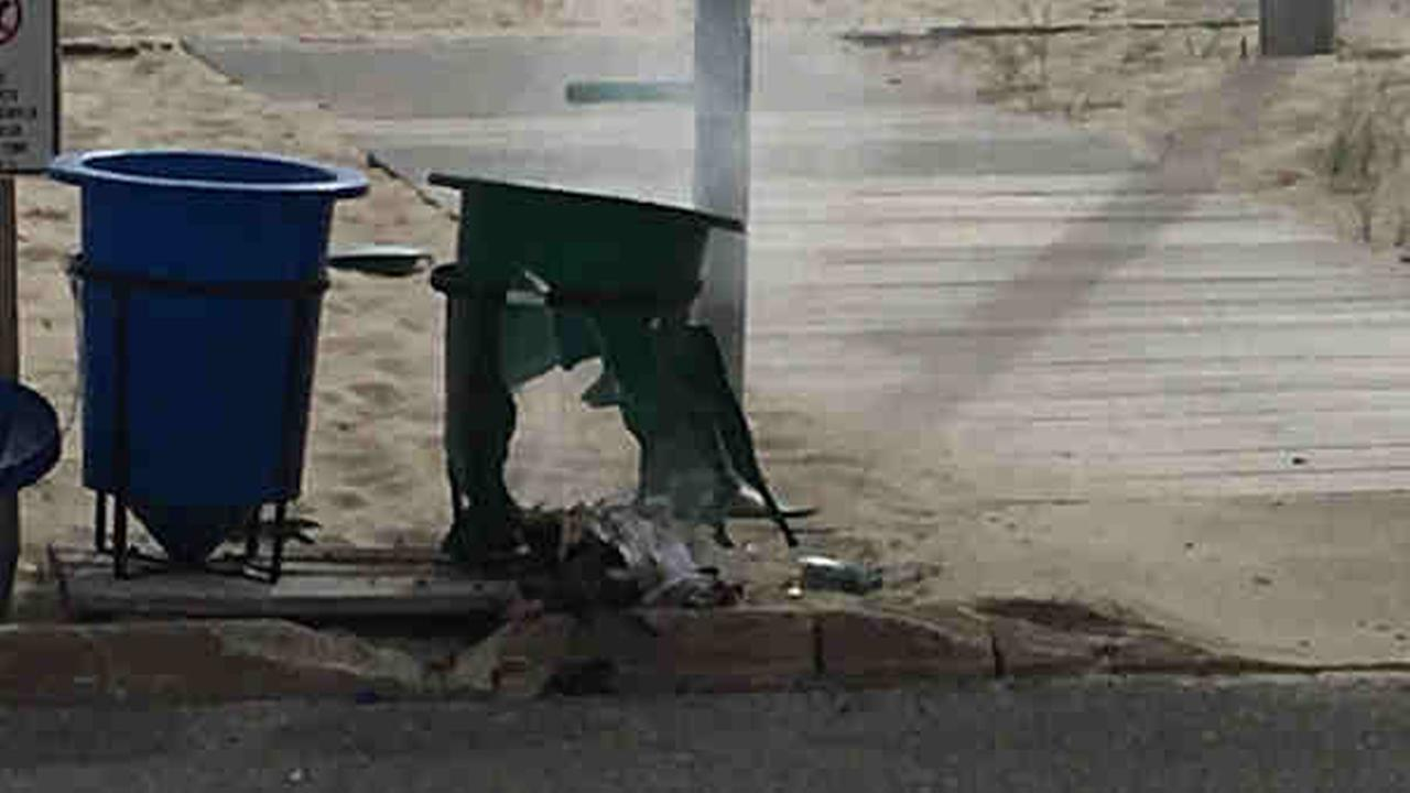 Police are investigating an explosion in Seaside Park at the site of a 5K race.