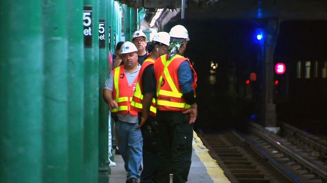 145th Street subway platform partially collapses in Harlem