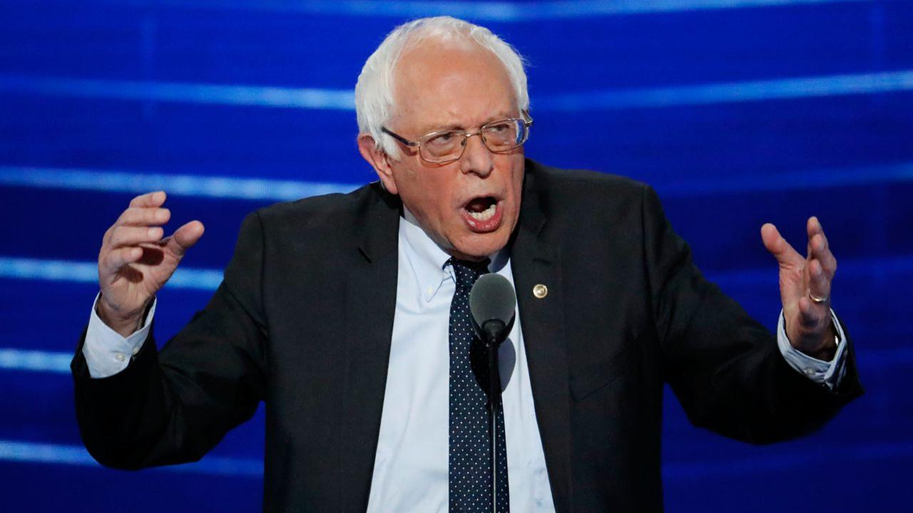 In this July 25, 2016 file photo, Sen. Bernie Sanders, I-Vt. speaks at the Democratic National Convention in Philadelphia.