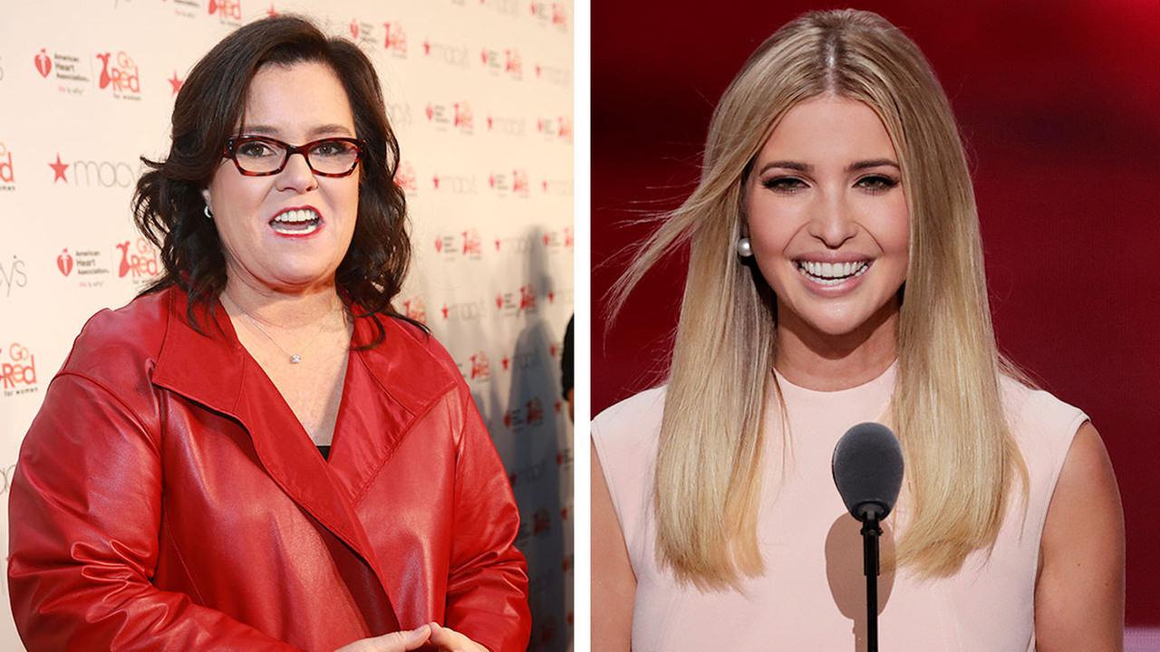 Rosie O'Donnell and Ivanka Trump bump into each other in NYC