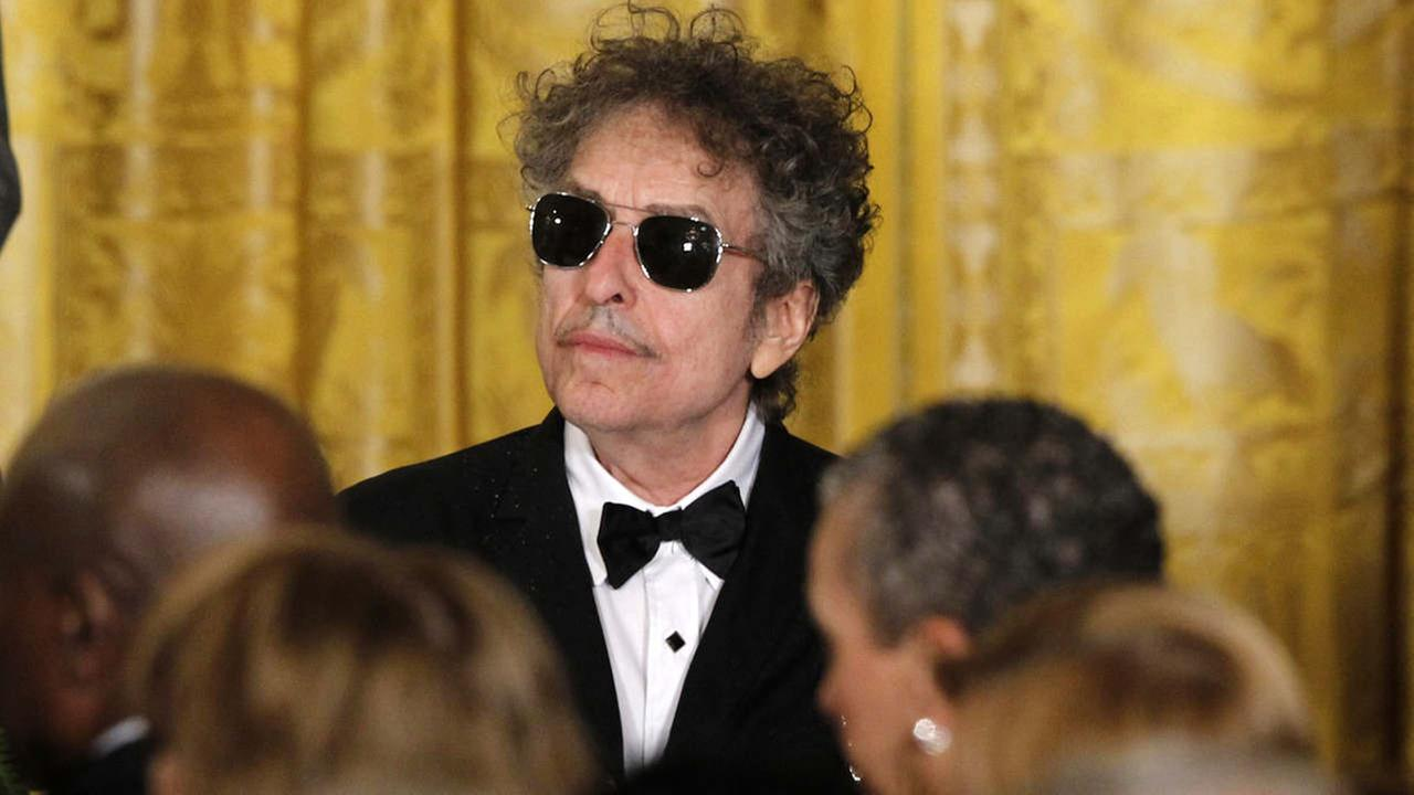Rock legend Bob Dylan is seen at the White House in Washington, Tuesday, May 29, 2012, where President Barack Obama was to present Dylan with a Medal of Freedom.