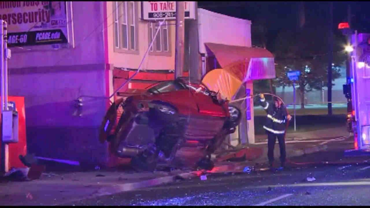 At least two cars were involved in a crash in Roselle early Saturday morning.