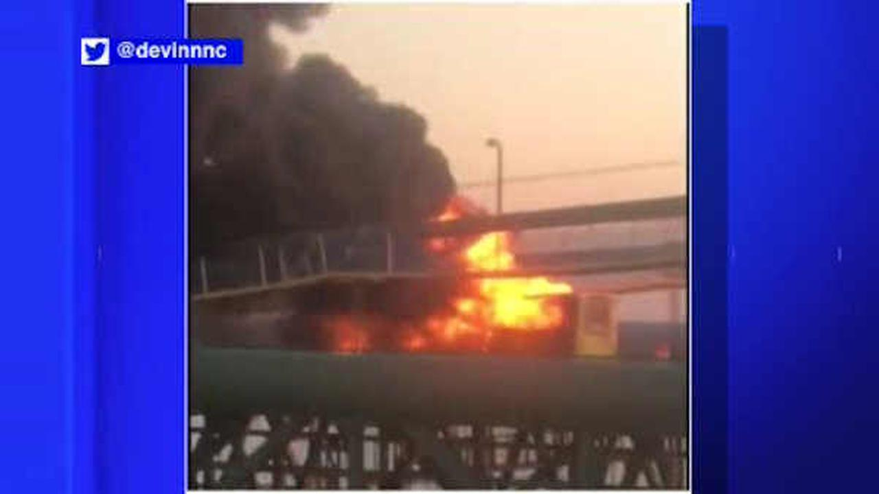 RV containing pot-laced candy catches fire on New Jersey bridge, police say