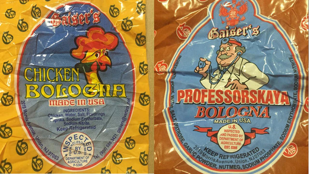 New Jersey company recalls 4,000 pounds of chicken, pork bologna