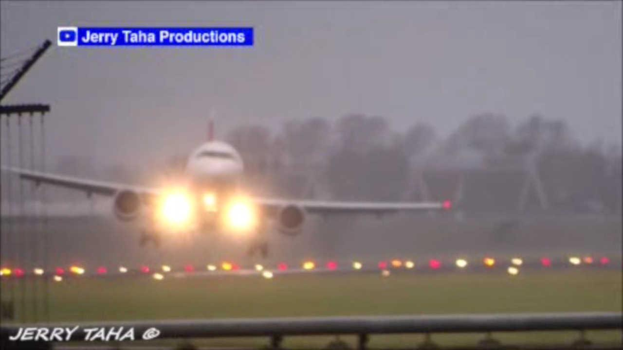 WATCH: Dramatic videos show planes trying to land in severe winds