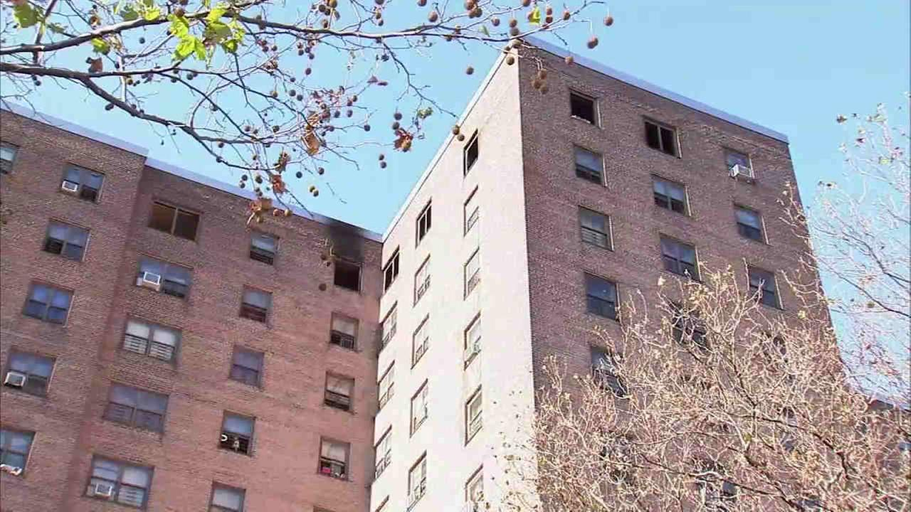A 1-year-old is dead after a fire at a Brooklyn high-rise Wednesday morning.