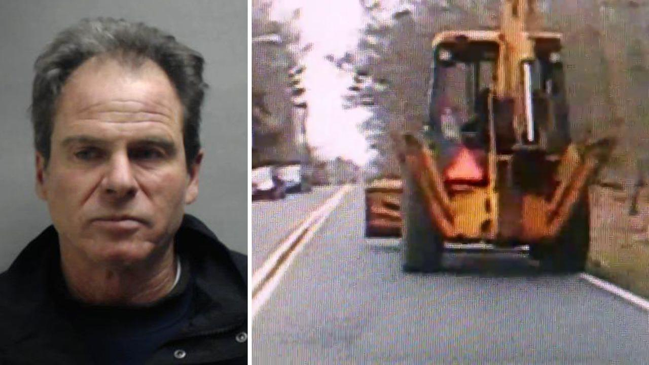 Police: Backhoe driver with liquor bottles was driving drunk in New Jersey