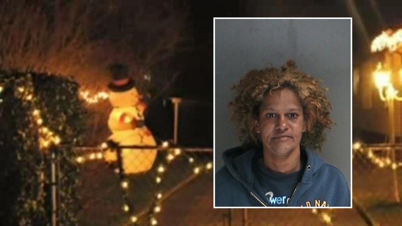 Police arrest woman who allegedly stole giant snowman from Long Island lawn