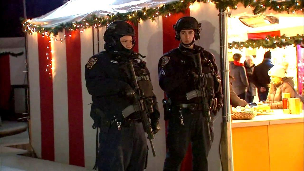 NYPD steps up security at Christmas markets across NYC following Berlin truck incident