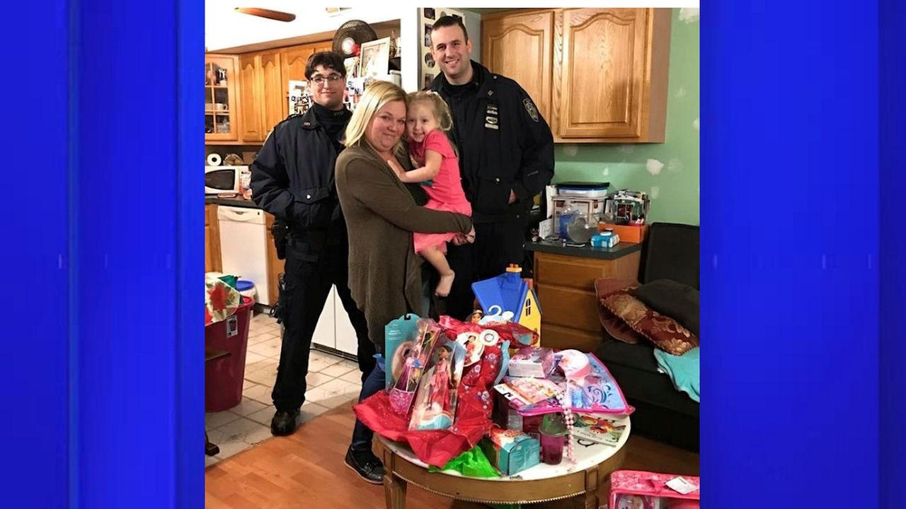 NYPD officers replace little girl's stolen birthday gifts