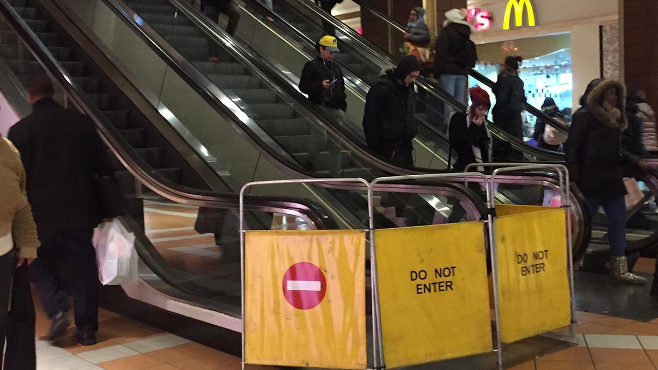 7 hurt in chain reaction escalator fall in Brooklyn