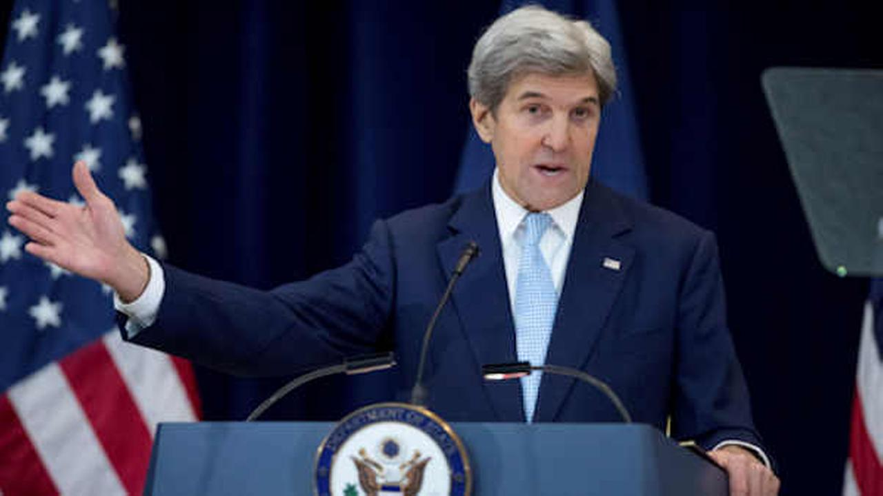 Secretary of State John Kerry speaks at the State Department in Washington, Wednesday  (AP Photo/Andrew Harnik)