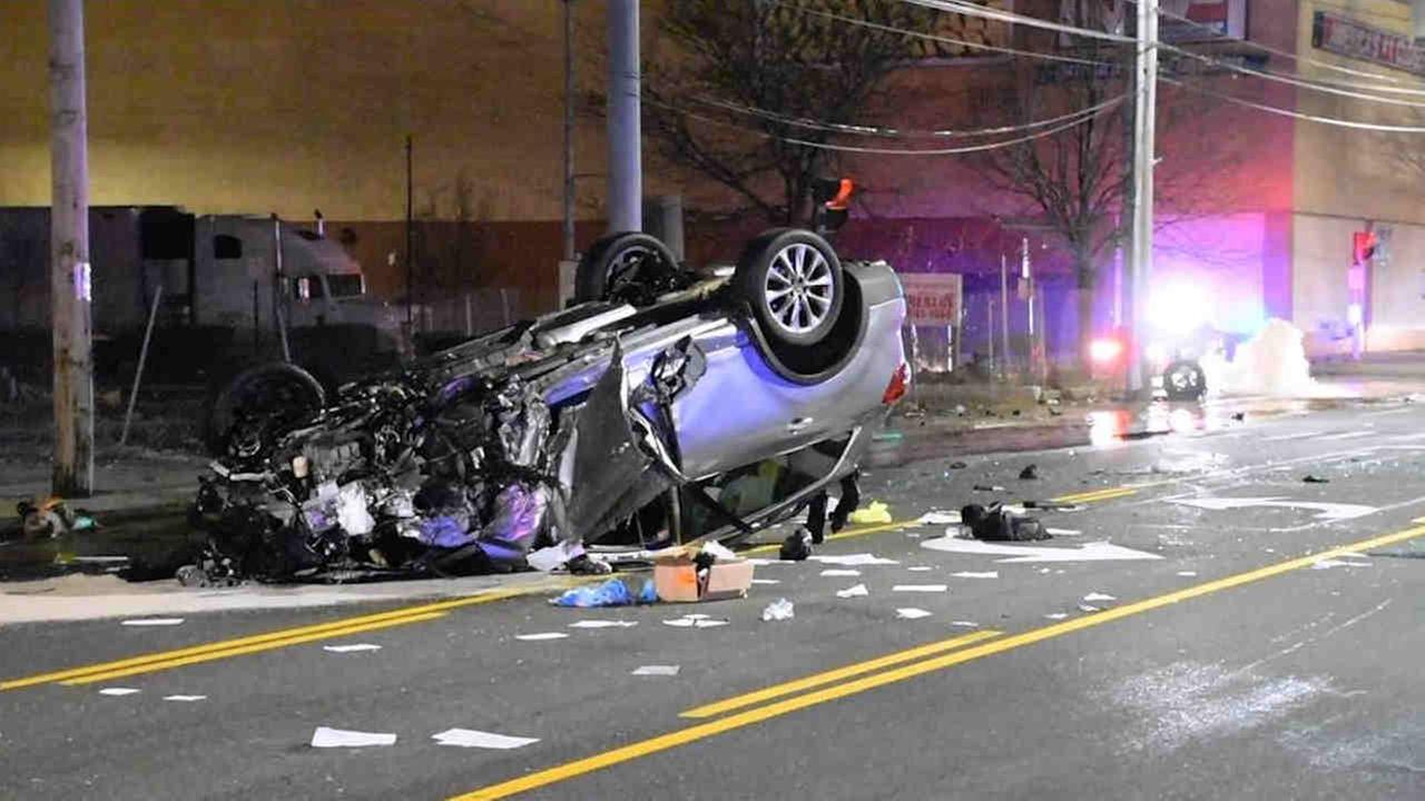 Two cars collided in West Hempstead early Thursday.