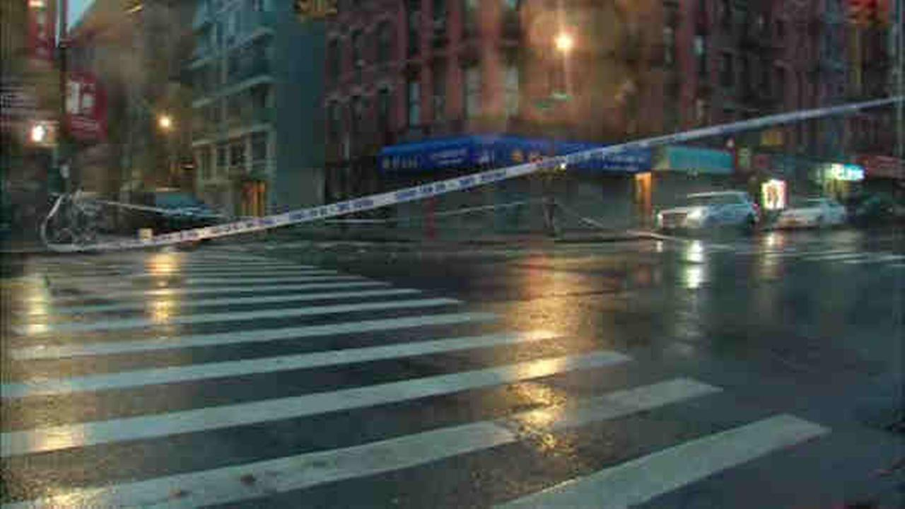 A man was shot Tuesday in a possible dispute among occupants of several vehicles in Lower Manhattan.