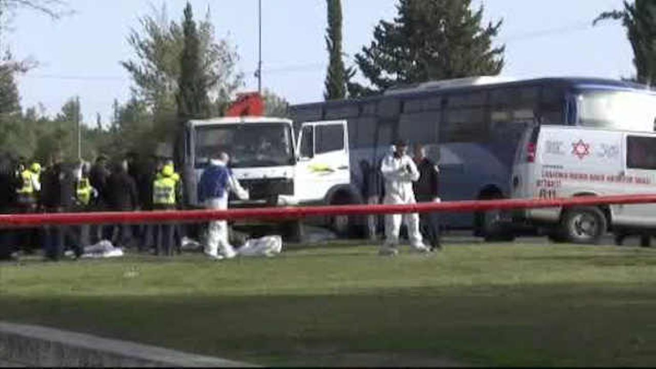 Israeli police: Truck ramming into group of soldiers kills 4 in Jerusalem