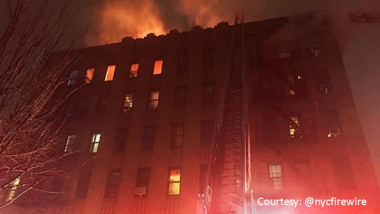 Dozens of residents evacuated from burning apartment building in Brooklyn