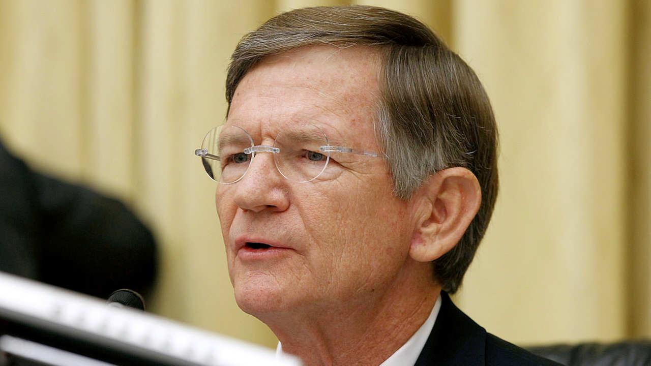 Rep. Lamar Smith, R-Texas, questions Attorney General Eric Holder on Capitol Hill in Washington, Thursday, June 7, 2012.