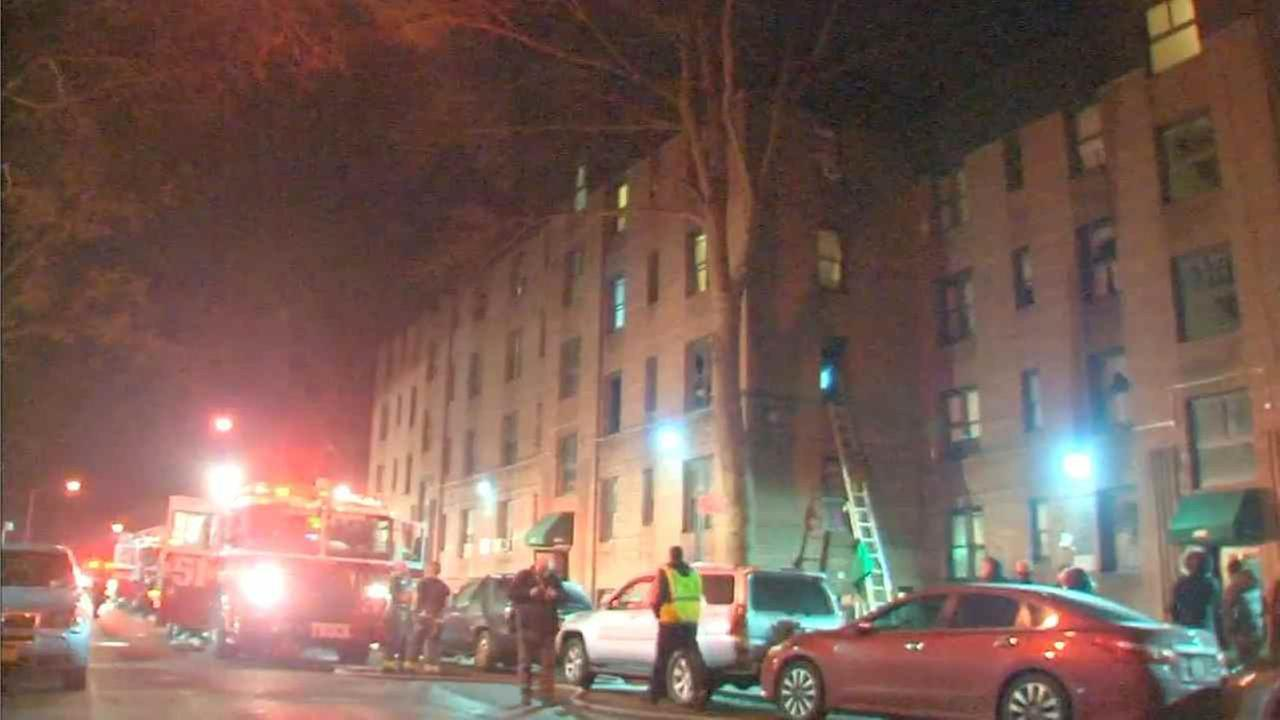 The fire broke out inside a Fenton Avenue apartment in the Williamsbridge section just before 3:30 a.m.