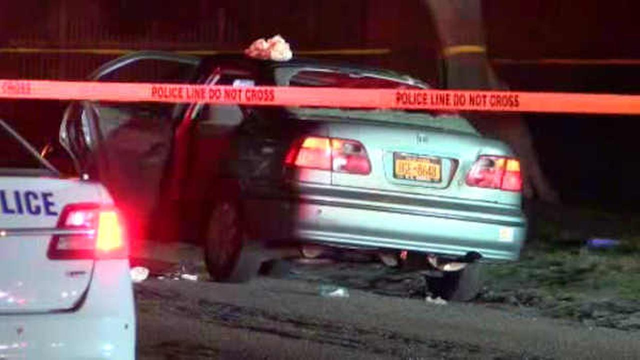 Passenger shot inside car at intersection in Holtsville, Long Island