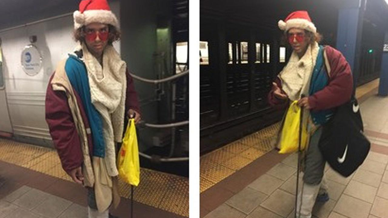 Strangely-dressed man wanted in Midtown subway gropings
